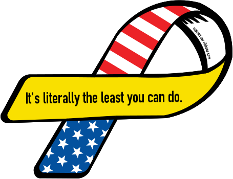 47694-custom-ribbon-magnet-sticker-It's+literally+the+least+you+can+do.